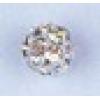 Rhinestone Bead 6mm Round Silver/Crystal Aurora Borealis